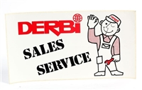 Derbi Sales and Service Sticker