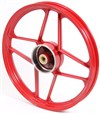 Red Derbi 4 Star Front Mag Wheel