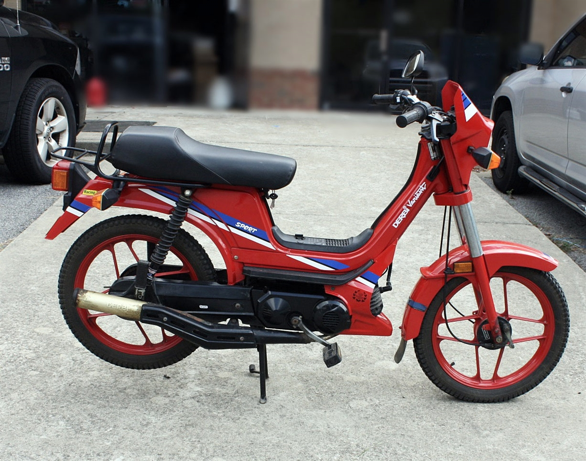 What Is Included In A Tune Up >> Euro Derbi Variant Moped -Red