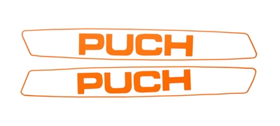 Puch Maxi Simple Orange Sticker Set