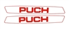 Puch Maxi Simple Red Sticker Set