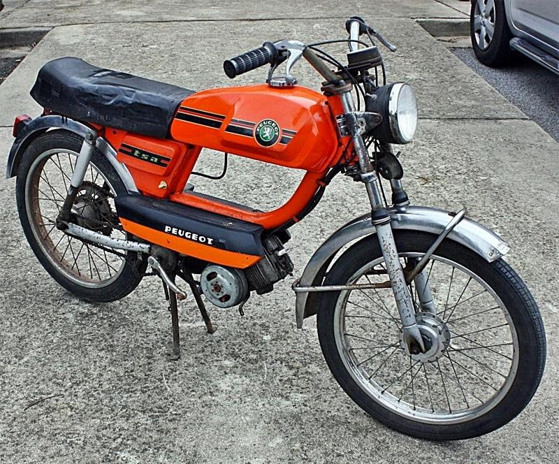 Peugeot TSA Orange Euro Moped