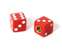 Dice Valve Caps -Red