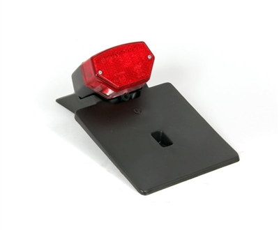 Universal Superman Tail Light With Plate Holder Fender