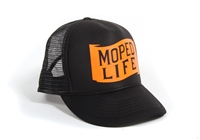 Moped Life Hat -Orange & Black