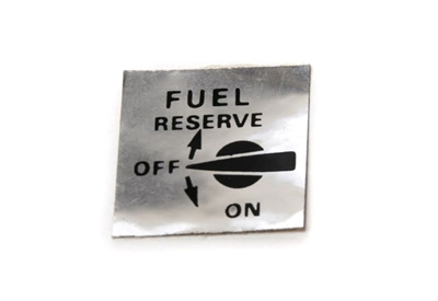 Fuel Reserve Sticker