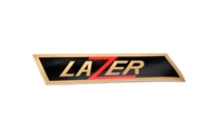 Lazer Gold and Black Decal -Left Side