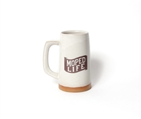 Moped Life Ceramic Beer Stein / Coffee Mug
