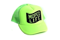 Moped Life Hat -Neon Green!